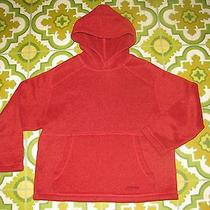 Boys Red Warm Hooded Sweater Pullover Hoodie Shirt by Patagonia Size 8 Year Photo