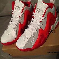Boys Reebok Kamikaze Ll Mid Basketball Shoes Sz. 4.5y Nib Photo
