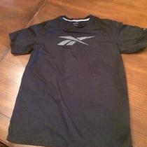 Boys Reebok Play Dry Shirt Large 14 / 16 Black 14-16 Photo
