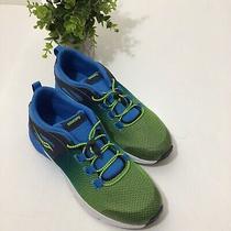 Boys Saucony Sneaker Running Shoe Blue Green Size 7 Photo