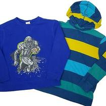 Boys Shirts Lot of 2 S 6/7 Football Sweatshirt Hooded Striped Old Navy School Photo