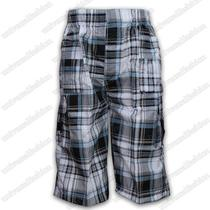 Boys Shorts Cargo Combat Checked Print 3 4 Long Pants Bottoms Summer Casual New Photo