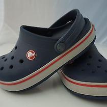 Boys Size 1 Crocs Crocband Blue Photo
