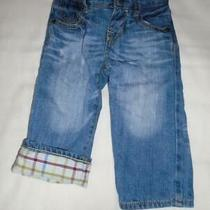Boys Size 12-18 Months Baby Gap Jeans Lightly Lined Distressed Elastic Waist Vgc Photo