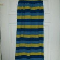 Boys Size 12 Pajama Pjs Pants Land's End Kids Blue Yellow Striped Elastic Waist Photo