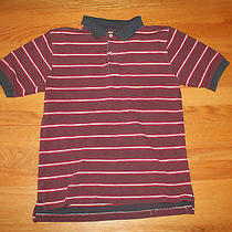 Boys Size 16-18 Express Polo Top Tee Red Navy White Multi Color Photo