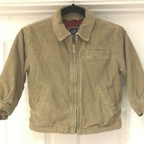 Boys Size 4 Xs Jacket Gap Kids Corduroy Coat Outerwear Brown Fleece Lined Photo