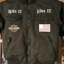 Boys Size 6 Black Harley Davidson Jacket Coat So Cool  Photo