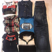 Boys Size 7 Lot of 7 Long Sleeve Shirts and 1 Pair Jeans Gap  Nautica Osh Kosh Photo