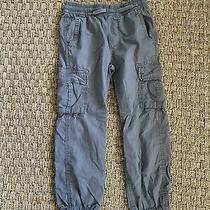 Boys Size 8 Medium Gap Kids Gray  Cargo Joggers Pants Photo