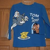 Boys Size S (5-6) Tom & Jerry Blue Long Sleeve Shirt Hanna-Barbera  Photo