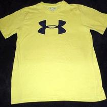 Boys Size Small Yellow Under Armour Tee Shirt Top Short Sleeve Loose Fit Summer  Photo