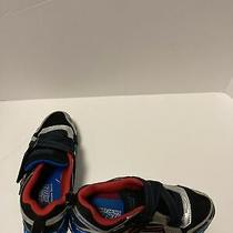 Boys Skechers Size 3 Mega Flex Anodized Chrome Series Tennis Shoes Sneakers Used Photo