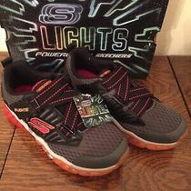 Boys Sneakers Shoes Skechers With Lights Size 3 New in Box Photo