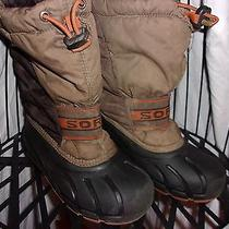 Boys Sorel Snow Boots Size 1 Brown Photo