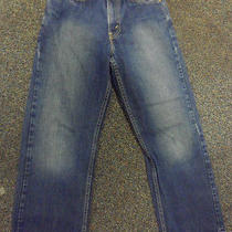 Boys/teens Levis 569 25x 27 Dark Denim Jeans Sz 14 Slim Loose Stright Photo
