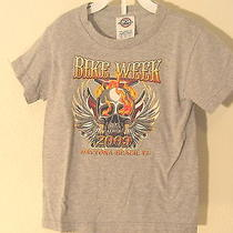 Boys Toddler Biker Harley Bike Week Shirt Size 2/4 Am13 Photo