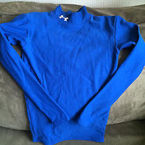 Boys Under Armour Cold Gear  Royal Blue L/s Compression Shirt  Youth Medium  Photo