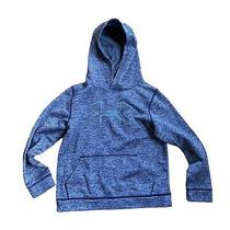 Boys Under Armour Storm 1 Pull Over Hoodie Sweatshirt Youth Medium Blue Gray Photo