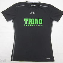 Boys Under Armour Ua Black Fitted Heat Gear T-Shirt Size Youth Large Photo