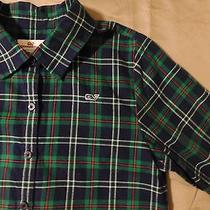 Boys Vineyard Vines Plaid Green Red Navy Button Front Shirt Size 12 Photo