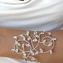 Bracelet Bracelets Bridal Crystals Swarovski Silver Plated Wedding Made Italy  Photo