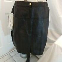 Braefair Women's Brown  Lamb Leather Skirt Size 16  Photo