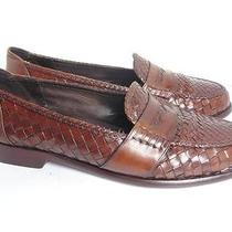 Bragano by Cole Haan 9 M Basket Woven Italian Loafers 245 Photo