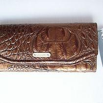 Brahmin Andie Mineral Melbourne Croc Embossed Leather Wallet New Photo