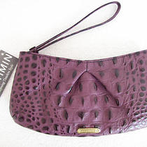 Brahmin Bess Violet Croc Embossed Leather Wristlet Nwt Photo