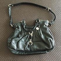 Brahmin Black Leather Croc Bag W/ Storage Bag Photo