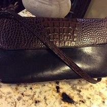 Brahmin Black/tuscan Croc Shoulder Bag  Photo
