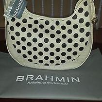 Brahmin Carmela Taffeta Luna Dots Hair on Leather Purse J4199et Rare Photo