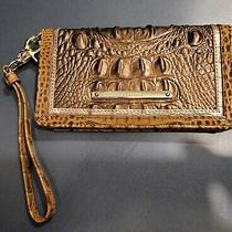 Brahmin Debra Wristlet Wallet Patina Masolino Brown Hues Rose Gold Clutch Debi Photo