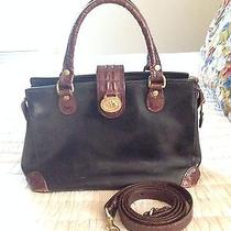 Brahmin Doctor Satchel Tuscan Leather Croc/brown/black W/strap & Dustbag Photo