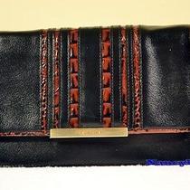 Brahmin Hudson Black Tuscan Vineyard Leather Crossbody Clutch Photo
