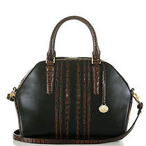Brahmin Hudson Satchel-Black Tuscan Vineyard Photo