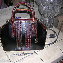 Brahmin Hudson Shoulder Bag Satchel and Wallet -Black Tuscan Vineyard   Nwt Photo