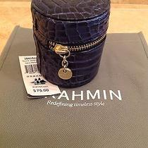Brahmin Jewelry Case Navy Melbourne Croc Embossed Leather Nwt Photo