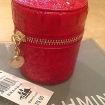 Brahmin Jewelry Case Party Red Melbourne Croc Embossed Leather Nwts Photo
