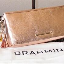 Brahmin Kayla Moonlit Rose Gold Wristlet Clutch - Tassels Nwt  Tags Rare Photo