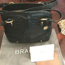 Brahmin  Leather Croc Embossed Tote Large Shoulder Bag Beautiful Women 395  Photo