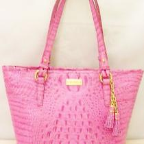 Brahmin Medium Asher Melbourne Croc Embossed  Leather Peony Tote New With Tag Photo