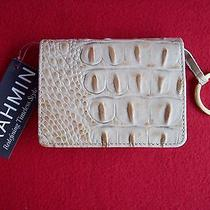 Brahmin Mini Key Wallet Travel Melbourne Croc Embossed Leather Nwt Photo