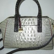 Brahmin Morgan Tri-Color Mother of Pearl Leather Convertible Bag Satchel Nwt315 Photo