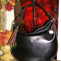 Brahmin New Leather Croco Black Tuscan Kathleen Hobo Purse Exquisite Photo