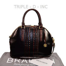 Brahmin Nwt Hudson Black Tuscan Vineyard Leather Satchel L31720bk Pretty Purse Photo