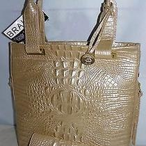 Brahmin Ono Croc Embossed Leather Melbourne Tote Fizz  Andie Wallet New W/tag Photo
