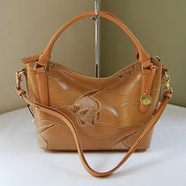 Brahmin Small Norah Shoulder Tote Bag Natural Angel Fish  Photo