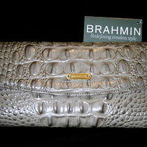  Brahmin Soft Checkbook Heather Melbourne Croc Leather Wallet  Nwt  Photo